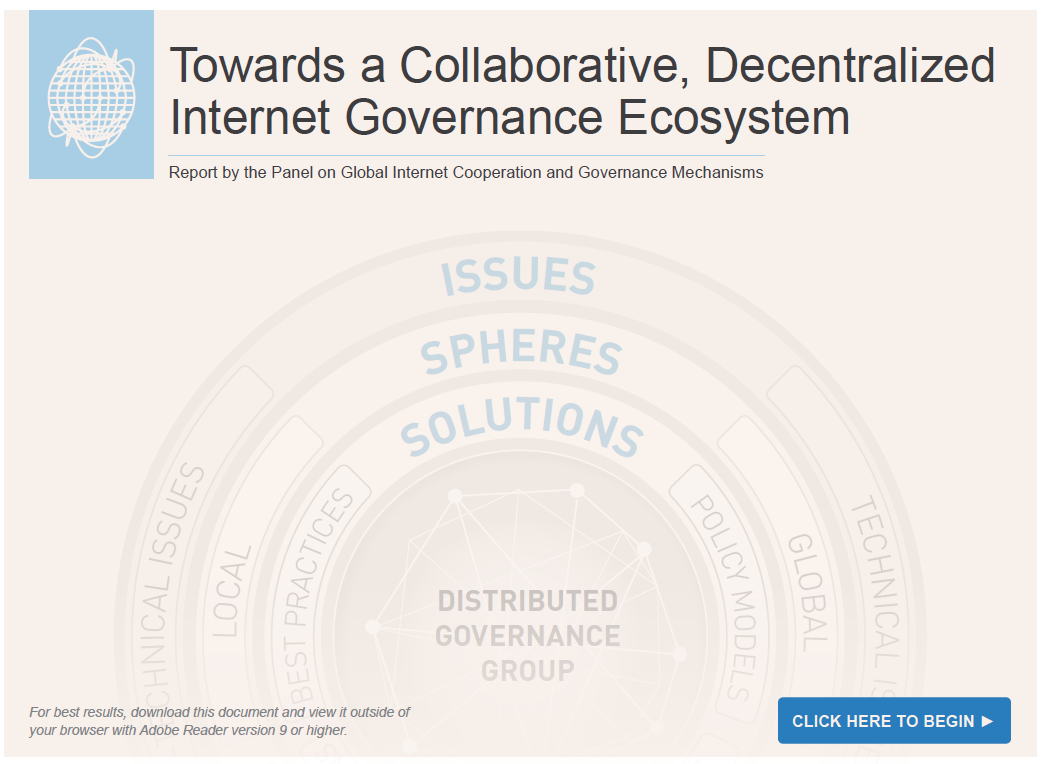 Teaching Collaborative Governance : A collaborative decentralized internet governance